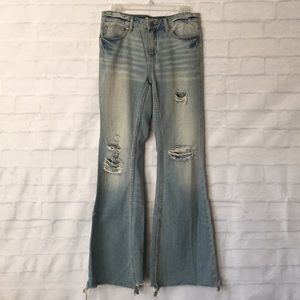 Free People distressed bell bottoms denim jeans